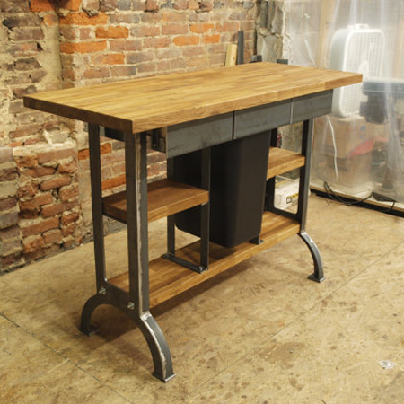 Deluxe Modern Industrial kitchen Island Metal Machine Base