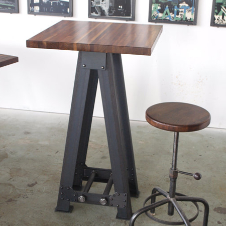 Standing Height Industrial Pub kitchen A Frame Table
