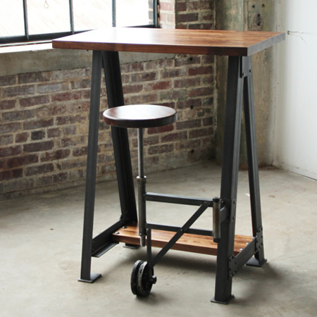 campos iron works modern iron industrial desks standup workstations stools. Black Bedroom Furniture Sets. Home Design Ideas